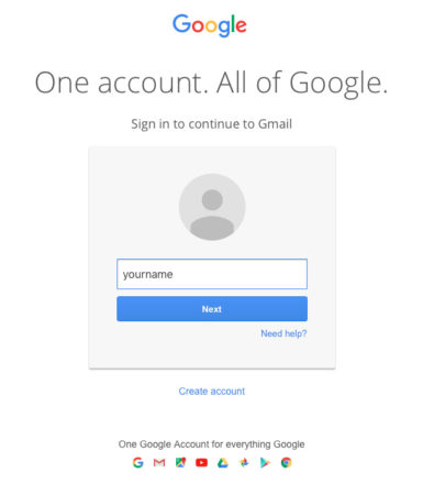 gmail login id