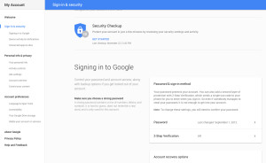 gmail change password