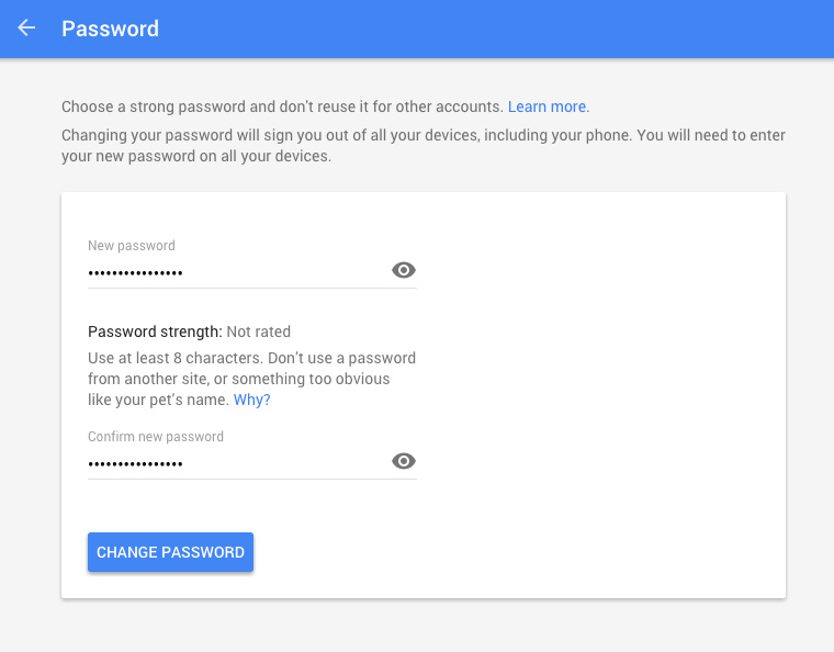 how to change your gmail password on mac