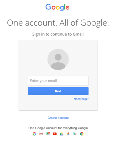 gmail sign on