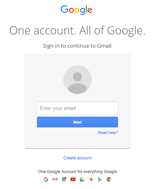 Gmail Sign In Page