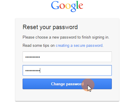reset password last step