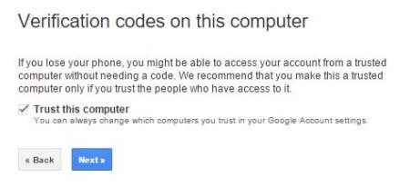 Gmail 2 step verification