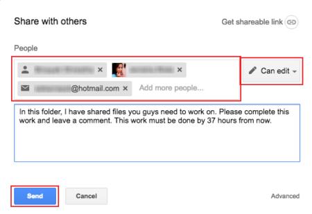 Sharing files on Google Drive