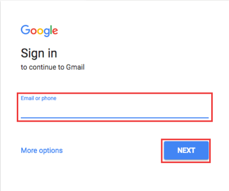 Gmail Sign-In Page